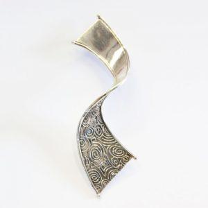 Niall Bruton silver brooch