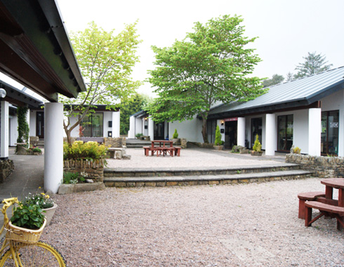 donegal craft village courtyard